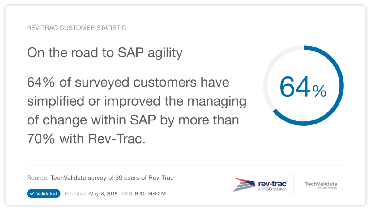 Rev-Trac SAP Agility Stat